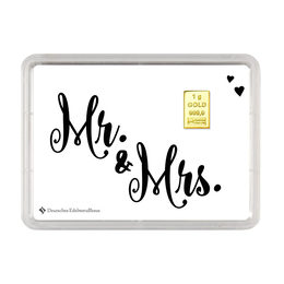 "1 g Goldbarren ""Mr. & Mrs."""